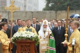 Patriarch of Moscow and all Russia Kirill consecrated the foundation stone of the temple being built in Zelenograd