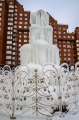 Frost is no obstacle - Zelenograd decorated by  winter ice fountain
