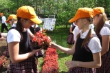 Flower garden watering itself set up in Zelenograd